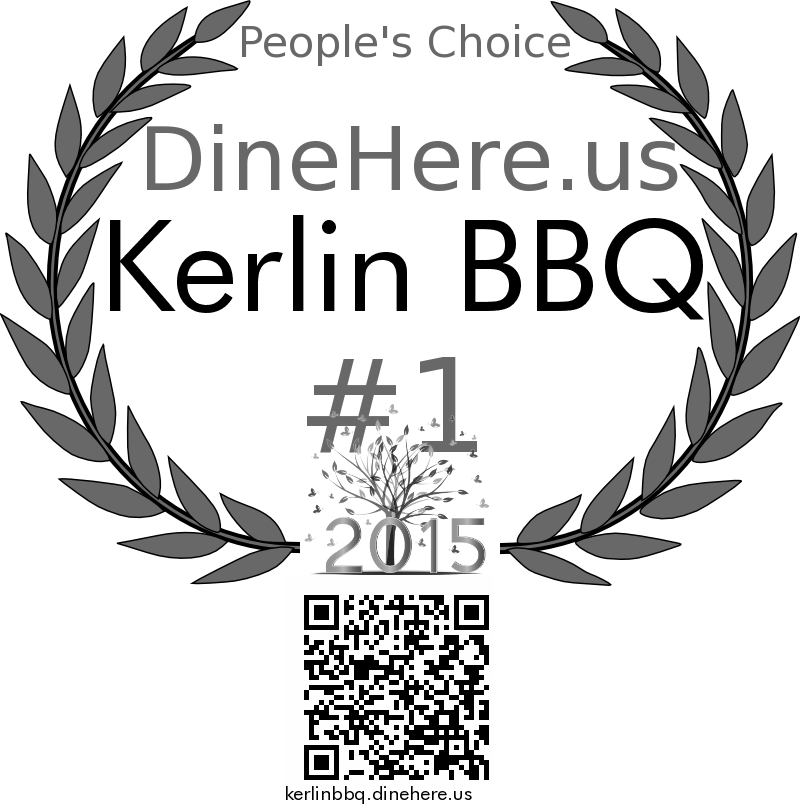 Kerlin BBQ DineHere.us 2015 Award Winner
