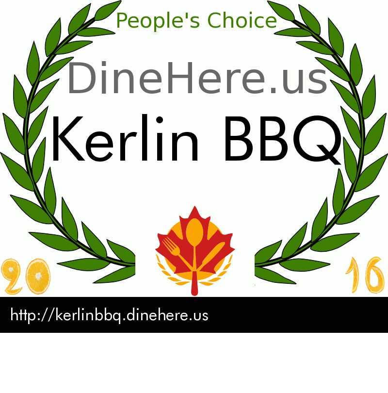 Kerlin BBQ DineHere.us 2016 Award Winner
