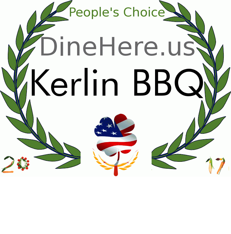 Kerlin BBQ DineHere.us 2017 Award Winner